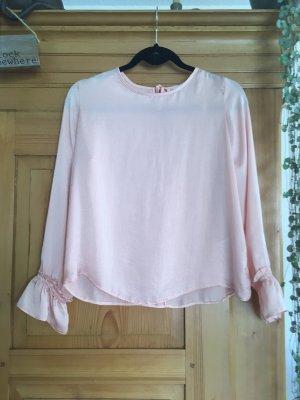 Clockhouse Glanzende blouse zalm