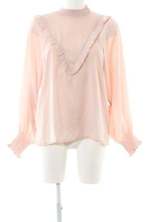 Glanzende blouse rosé glinsterend