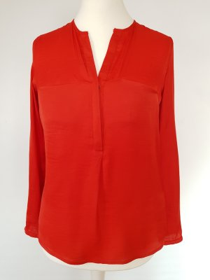 Zara Trafaluc Blouse brillante rouge