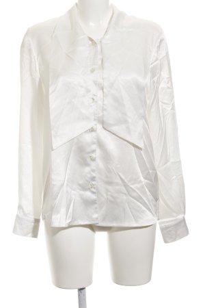Glanzende blouse wit elegant