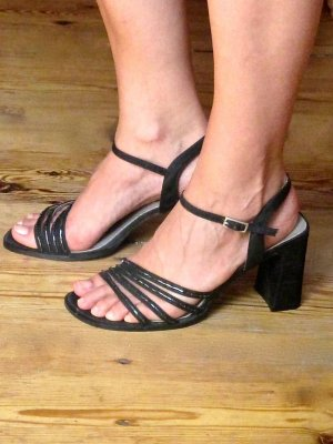 Strapped High-Heeled Sandals anthracite