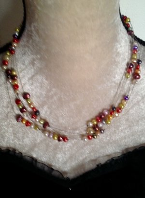 Collier Necklace multicolored glas