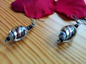 Glasperlen Ohrhänger aus Mexiko NEU