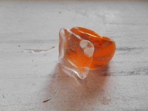 Glasring Ring Orange Gr. 18mm