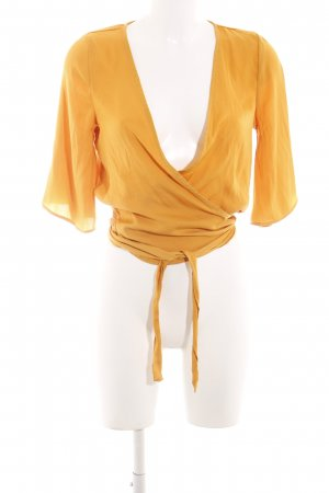 Glassons Wraparound Blouse light orange-orange elegant