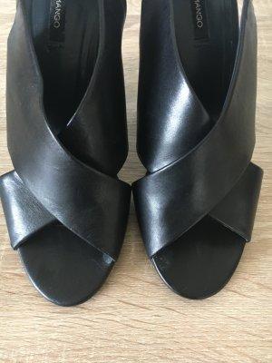 Mango Sandalen met bandjes zwart