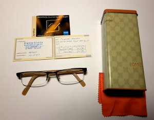 Fossil Glasses dark brown synthetic material
