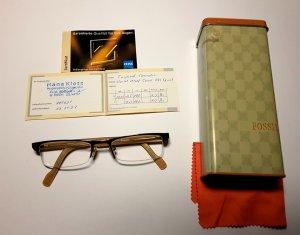 Gleitsicht Brille, Fossil, Zeiss Gläser, entspiegelt