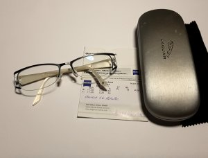 Aigner Glasses white-black synthetic material
