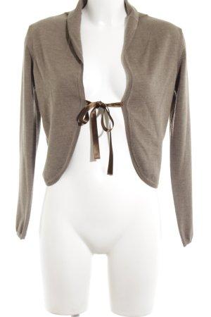 GLENFIELD Boléro en tricot bronze-brun moucheté style décontracté