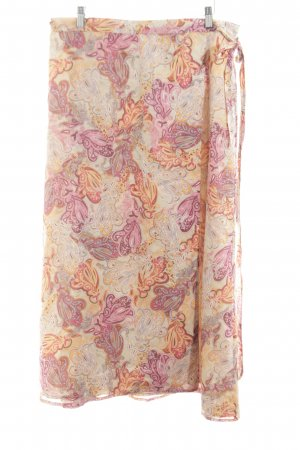 GLENFIELD Wraparound Skirt nude-pink abstract pattern elegant