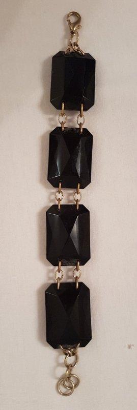 Glieder-Armband schwarz-gold