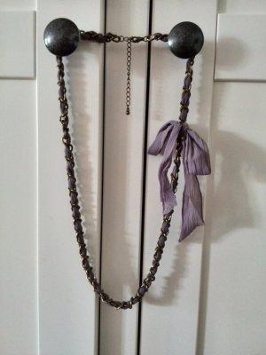 Gliederkette flieder Schleife bronze Vintage