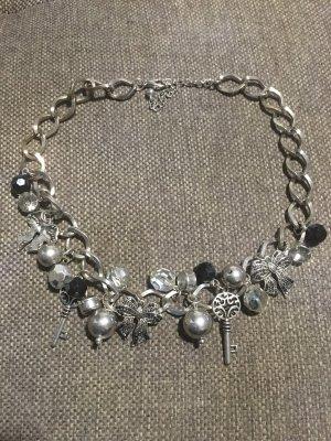 H&M Collier Necklace silver-colored-black