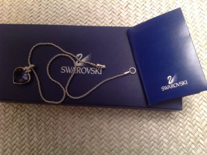 Swarovski Chain blue violet glas