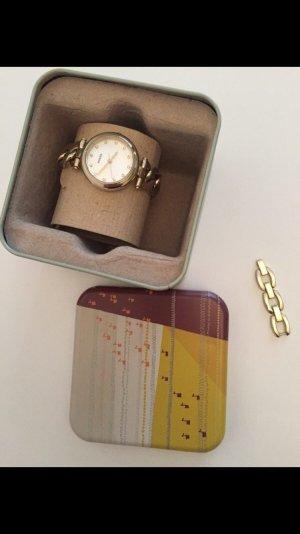 Gliederketten Cliparmband Uhr Edelstahl Gold
