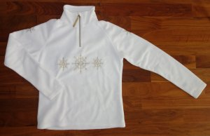 Pullover in pile bianco