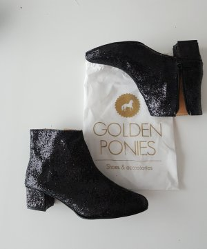 Glitter Ankle Boots, black