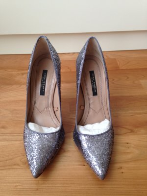Glitter Silber Pumps - Party Pumps