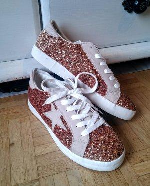 Glitter Sneakers mit Stern