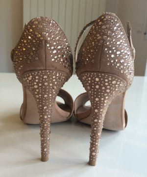 Glitter Stilettos in Nude