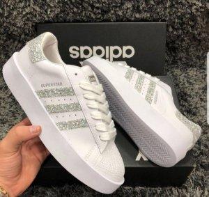 Glitzer Adidas Schuhe Gr. 38-39