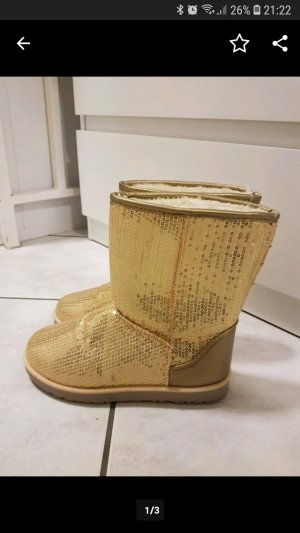 Glitzer Boots Gold