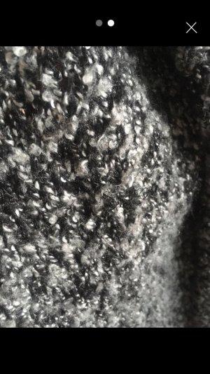 Glitzer Cardigan schwarz/grau meliert