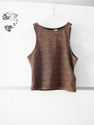 Glitzer Crop Top Gold