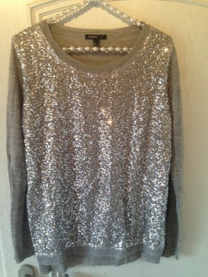 Mango Sweater silver-colored wool