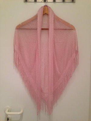 Pañuelo rosa-color plata