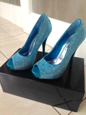 Glitzer High Heel's in Blue