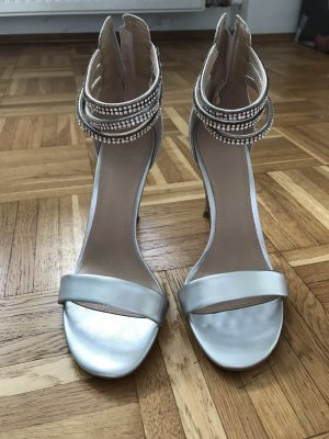 Guess Sandalias de tacón alto color plata