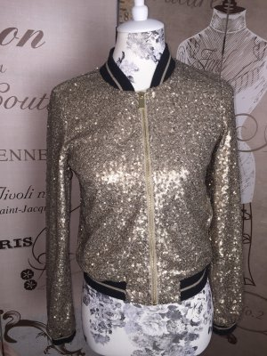 Ann Christine Bomber Jacket gold-colored