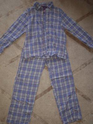 Glitzer Karo Pastell Pyjama 38/40