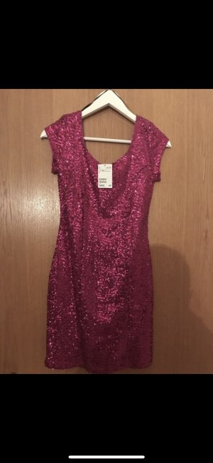 H&M Vestido de lentejuelas rosa