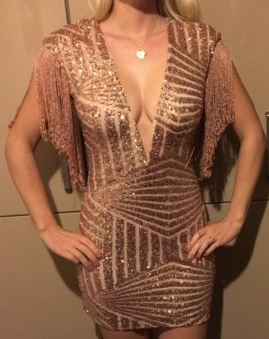 Fringed Dress bronze-colored-gold-colored
