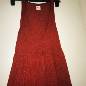 Only Gebreide jurk donkerrood