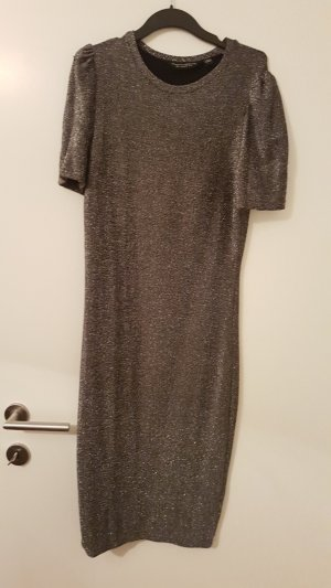 Dorothy Perkins Midi Dress silver-colored
