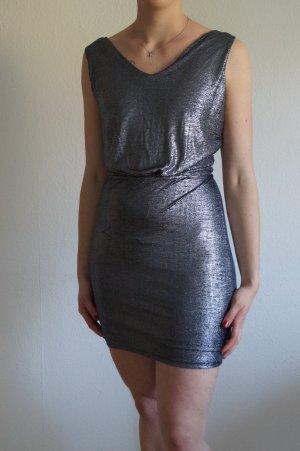 Glitzer Mini Kleid mit Rückenausschnitt