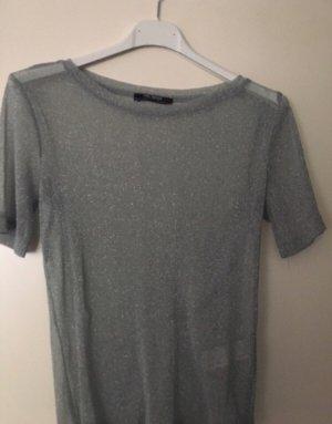Zara Camiseta color plata