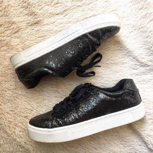 Glitzer-Plateau-Sneakers