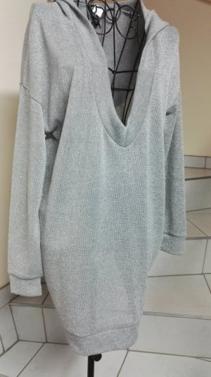 H&M Divided Hooded Shirt silver-colored-light grey