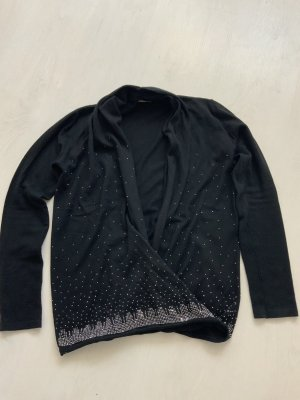Maglione con scollo a V nero
