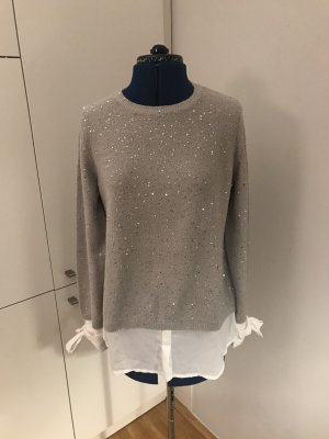 Orsay Crewneck Sweater silver-colored polyester