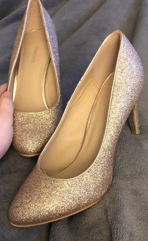 Glitzer-Pumps gold
