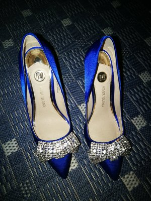 Glitzer pumps royalblau