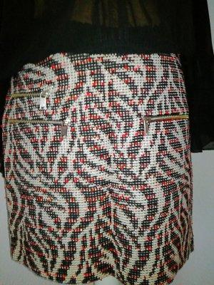 Glitzer Rock im Tweed Look von Zara