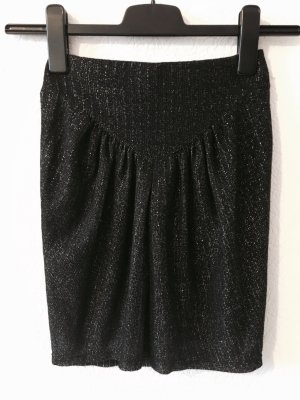 Zara Knitted Skirt black-silver-colored
