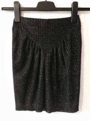 Zara Gebreide rok zwart-zilver